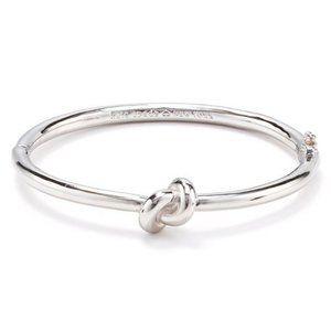 Kate Spade- Sailor's Knot Silver Hinge Bangle